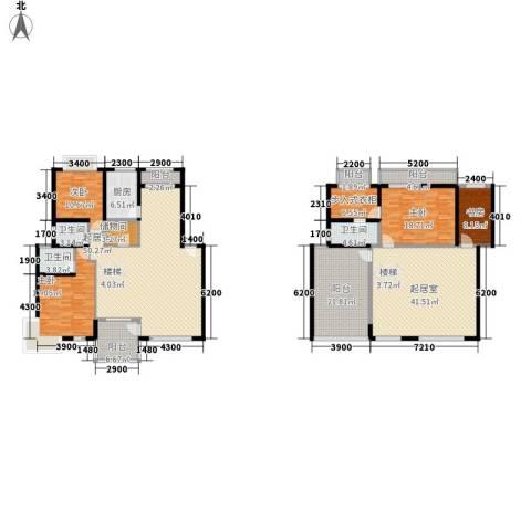 华馨苑别墅4室0厅3卫1厨211.52㎡户型图