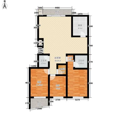 杏林苑3室0厅2卫1厨135.00㎡户型图