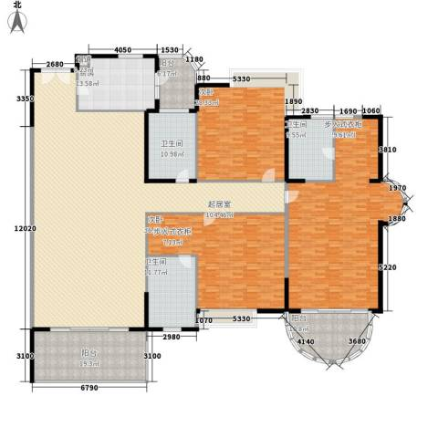 丽湖山庄3室0厅3卫1厨410.00㎡户型图