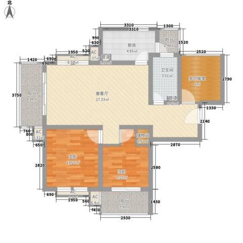 农房・英伦尊邸2室1厅1卫1厨106.00㎡户型图