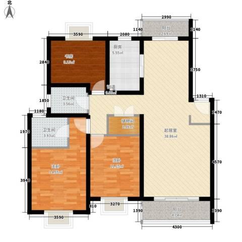 明光苑3室0厅2卫1厨139.00㎡户型图