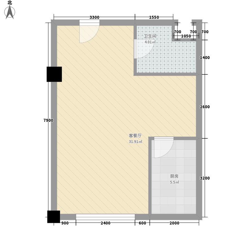 金坐标66.27㎡B户型1室1厅1卫
