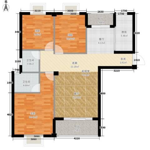 版纳一品3室0厅2卫1厨130.00㎡户型图