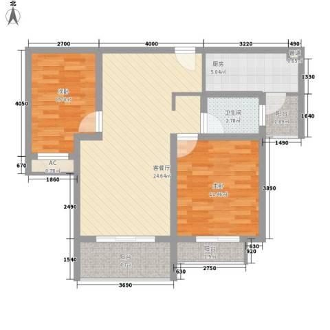 银河湾星苑2室1厅1卫1厨91.00㎡户型图