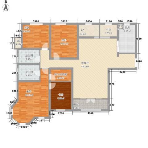 五矿榕园旷世公馆4室1厅2卫1厨170.00㎡户型图