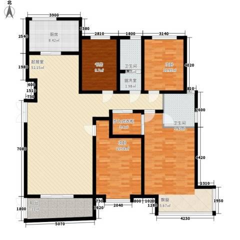 鼎盛国际4室0厅2卫1厨186.00㎡户型图