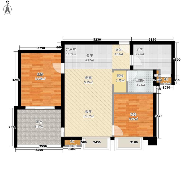 水岸星城第四期95.00㎡水岸星城第四期2室户型2室