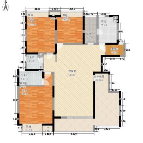 富康豪庭3室0厅2卫1厨159.62㎡户型图