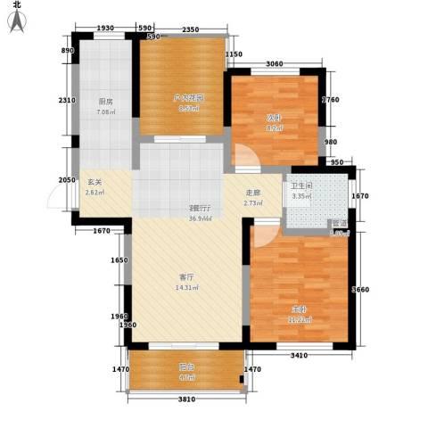 荷花里2室1厅1卫0厨80.00㎡户型图