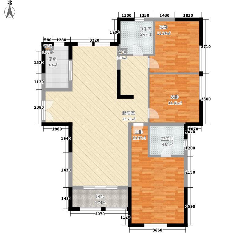 三榆山水文园148.20㎡G户型3室2厅2卫1厨