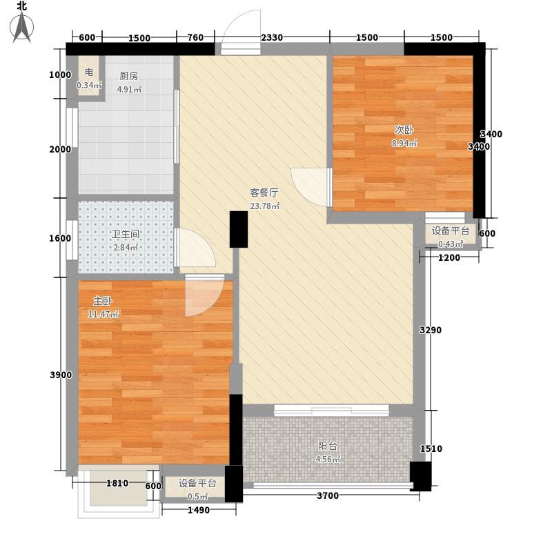 清苑丰景两居室27户型2室1厅1卫1厨