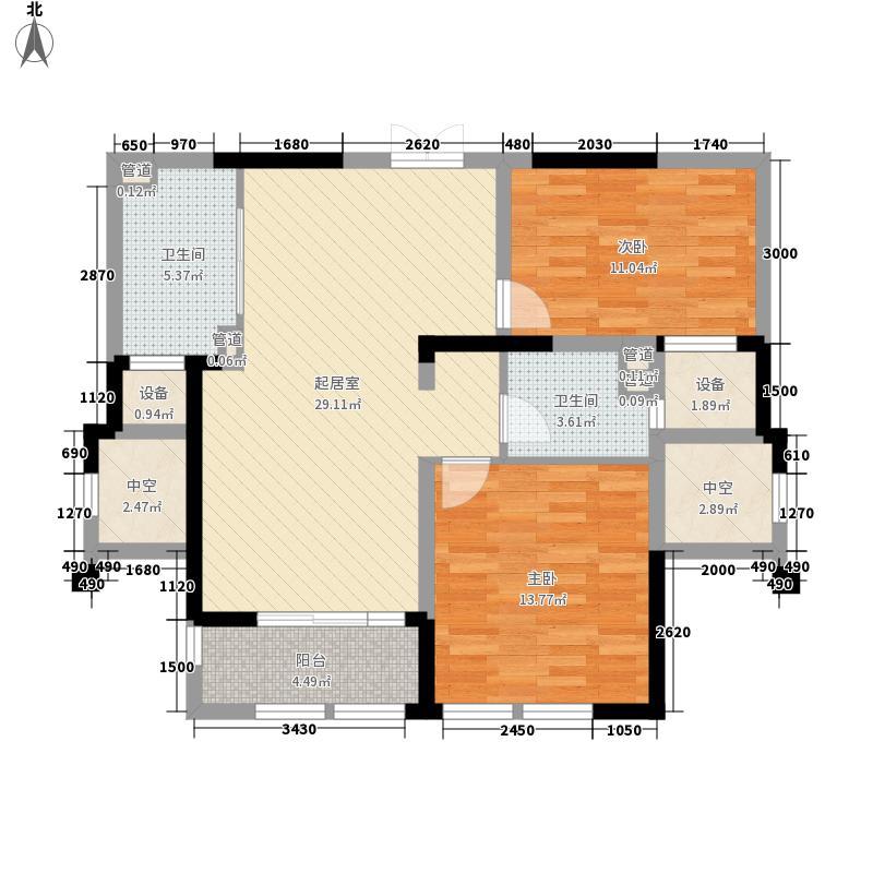 绿城玉兰公寓95.00㎡绿城玉兰公寓户型图12号楼B户型2室2厅1卫1厨户型2室2厅1卫1厨