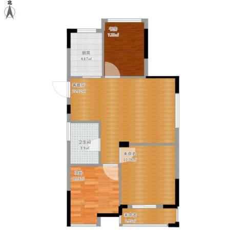 中兴久睦苑2室1厅1卫1厨84.00㎡户型图