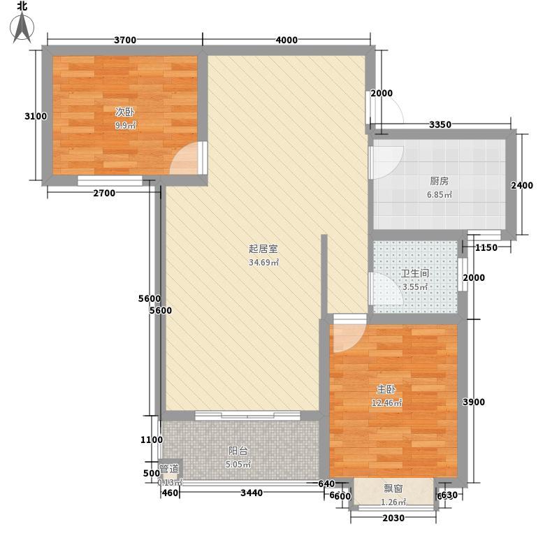 星富花园星富花园户型图2-2-122室2厅1卫1厨户型2室2厅1卫1厨