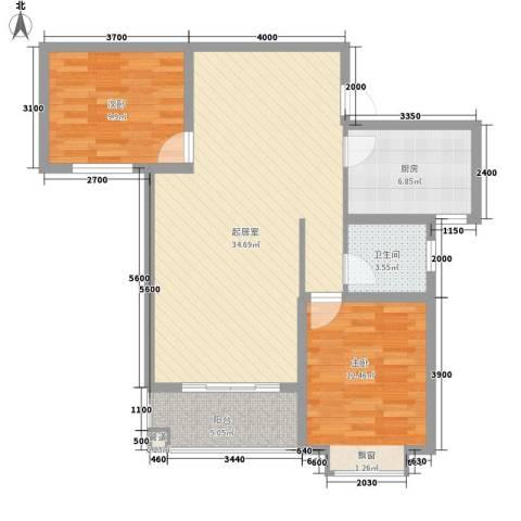 星富花园2室0厅1卫1厨103.00㎡户型图