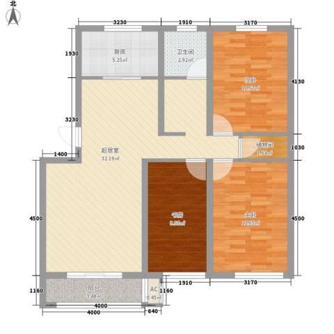 城建・鑫宇园3室0厅1卫1厨115.00㎡户型图