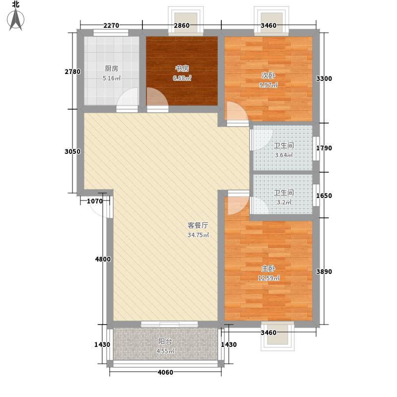 景湖春晓115.00㎡景湖春晓3室户型3室
