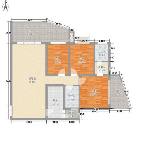 金阳乾图中心广场3室0厅2卫1厨158.00㎡户型图