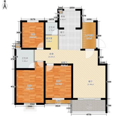 枫逸人家3室1厅2卫0厨136.00㎡户型图