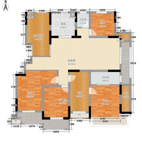 虎豹郡王府5室0厅2卫1厨195.00㎡户型图