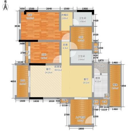 勒水名筑3室0厅2卫1厨109.00㎡户型图