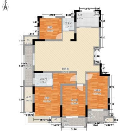 虎豹郡王府4室0厅2卫1厨158.00㎡户型图