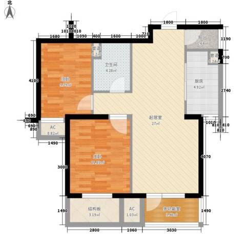 隆礼小区2室0厅1卫1厨99.00㎡户型图