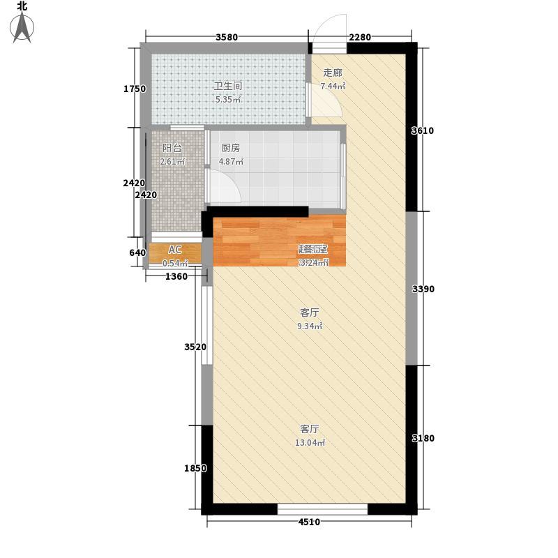 鹭岛国际社区四期52.00㎡鹭岛国际社区四期户型图户型图1室1厅1卫1厨户型1室1厅1卫1厨