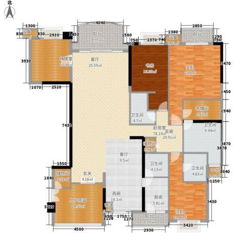 华明园3室0厅4卫1厨214.33㎡户型图
