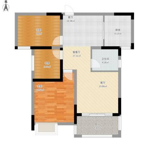 建投・南湖春城3室1厅1卫1厨103.00㎡户型图