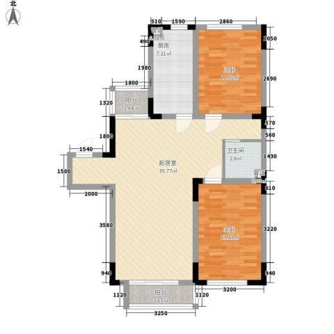 安达天下2室0厅1卫1厨102.00㎡户型图