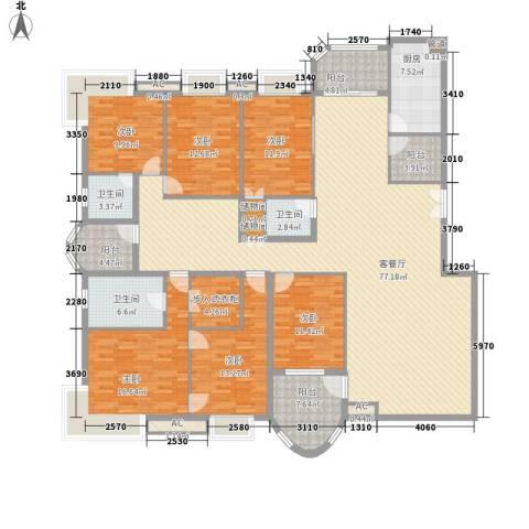 咸嘉新村嘉华苑6室1厅3卫1厨275.00㎡户型图