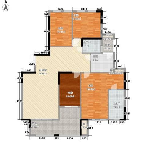 南沙滨海半岛别墅4室0厅2卫1厨204.00㎡户型图