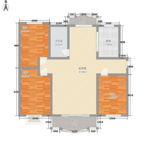 椰海福湾3室0厅1卫1厨159.00㎡户型图