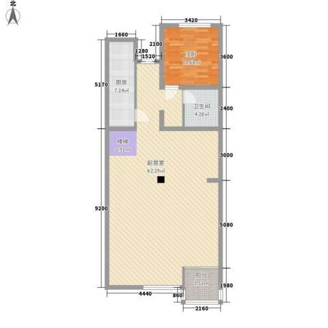 传输局宿舍1室0厅1卫1厨122.00㎡户型图