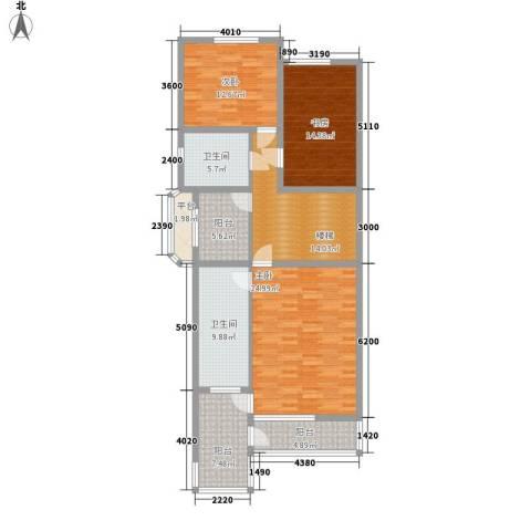 传输局宿舍3室0厅2卫0厨146.00㎡户型图