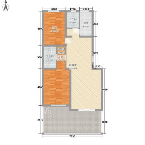 传输局宿舍2室0厅2卫1厨143.00㎡户型图