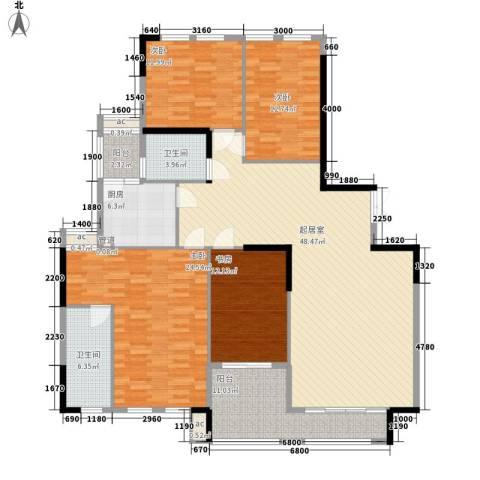 南沙滨海半岛别墅4室0厅2卫1厨196.00㎡户型图