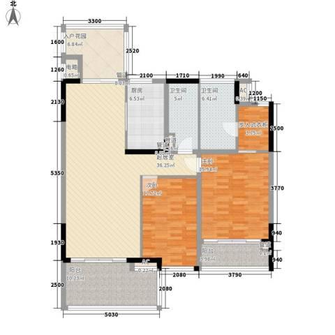 椰海福湾2室0厅2卫1厨124.00㎡户型图