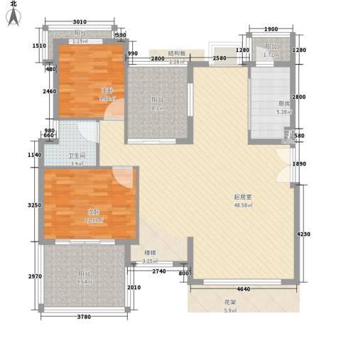 联佳大厦2室0厅1卫1厨142.00㎡户型图
