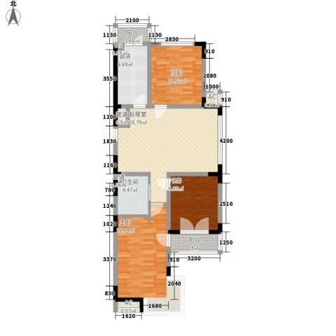 安达天下3室0厅1卫1厨111.00㎡户型图