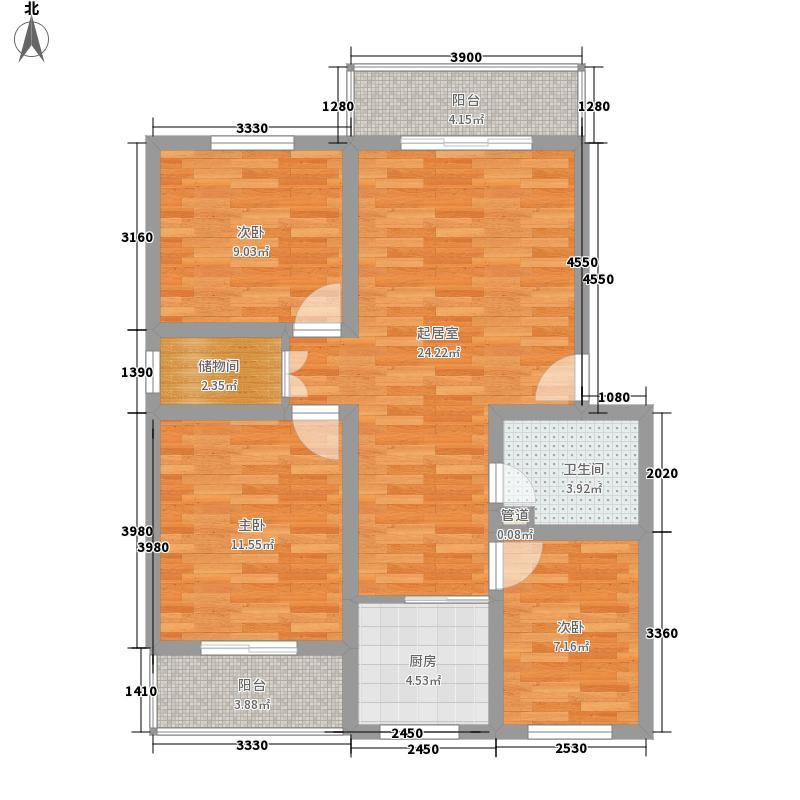 和馨苑102.00㎡和馨苑3室户型3室