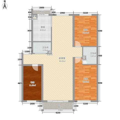 光机八区3室0厅2卫1厨147.00㎡户型图