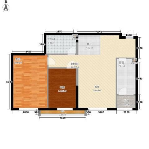 观筑金洋国际2室0厅1卫1厨98.00㎡户型图