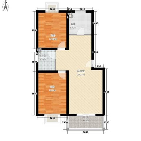 康馨雅苑二期2室0厅1卫1厨97.00㎡户型图