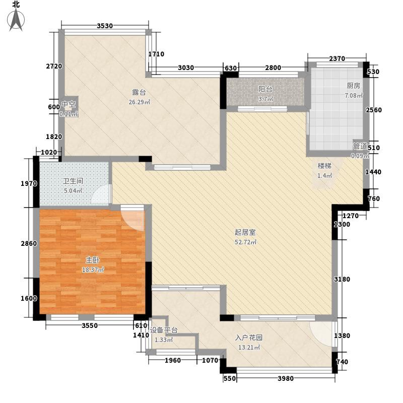 西郡英华绿荫里组团192.00㎡C5户型六层平面户型4室3厅3卫1厨