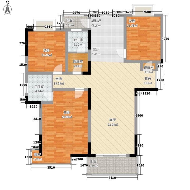 景华金水华庭133.72㎡景华金水华庭户型图B5户型4室2厅2卫1厨户型4室2厅2卫1厨