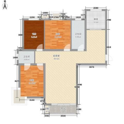 SR国际新城三期3室0厅2卫1厨131.00㎡户型图