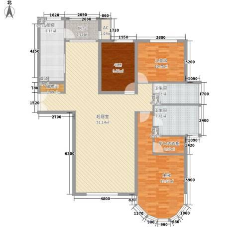 星富花园3室0厅2卫1厨171.00㎡户型图