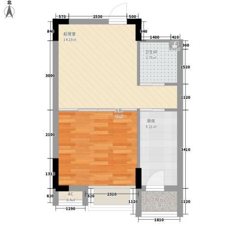 安达天下1室0厅1卫1厨47.00㎡户型图